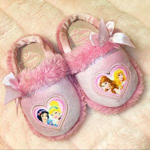 Pink Disney Little Girls Princess Slippers